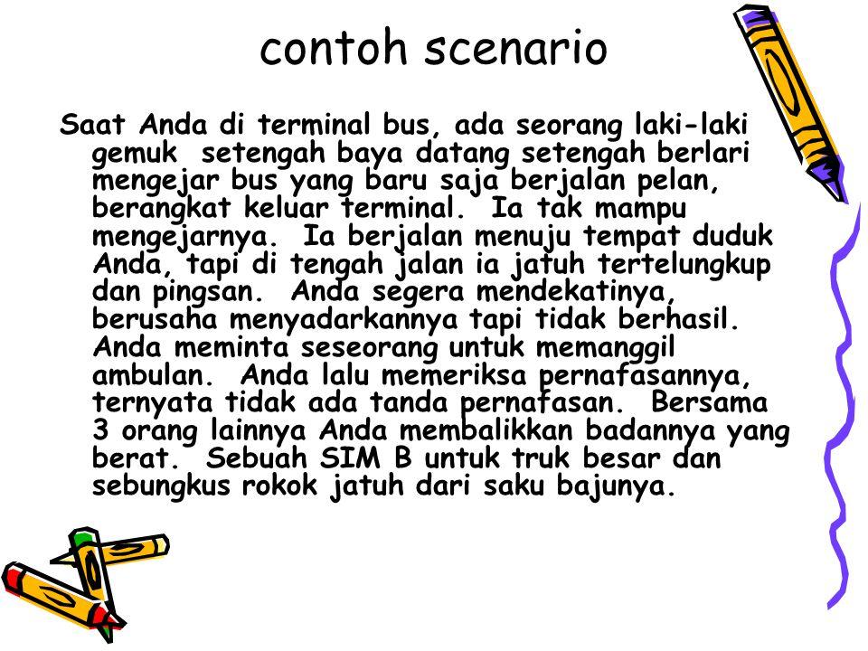 contoh scenario