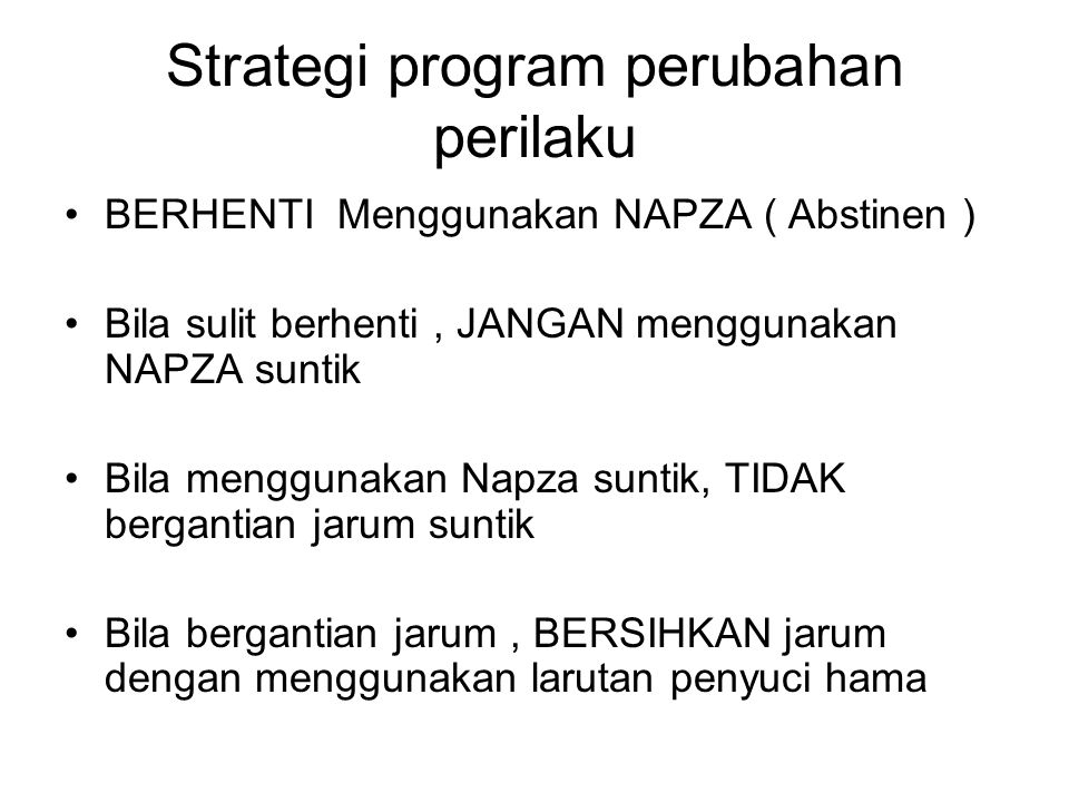 Strategi program perubahan perilaku