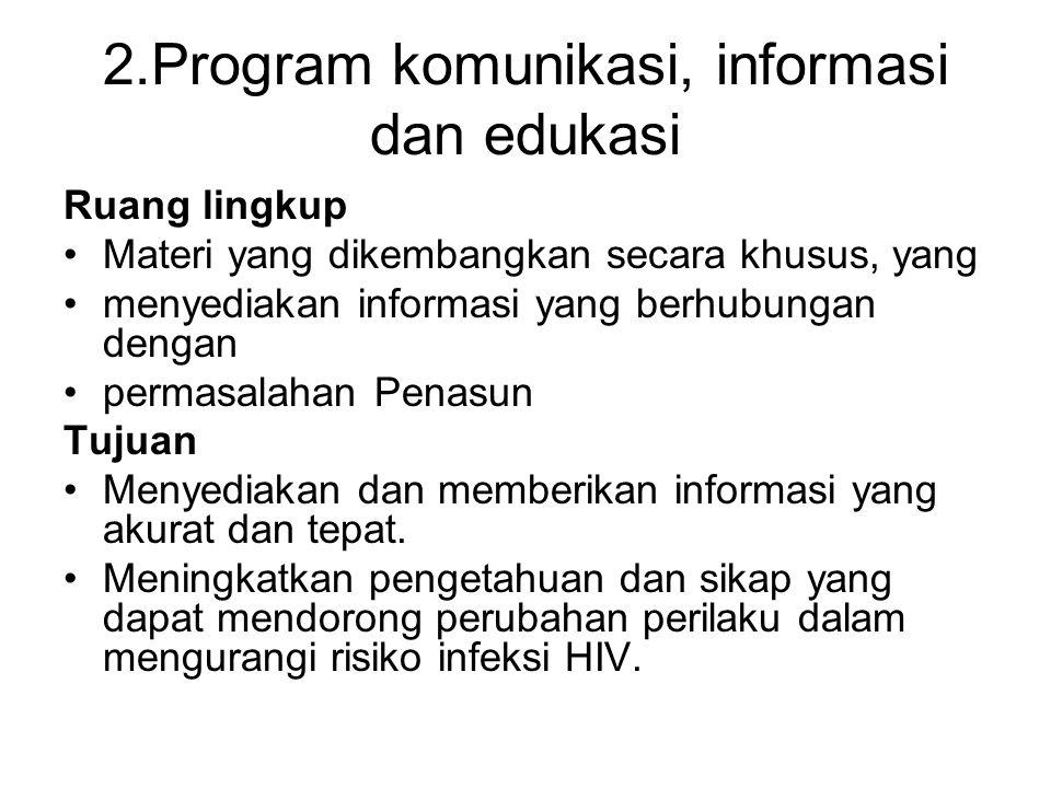 2.Program komunikasi, informasi dan edukasi