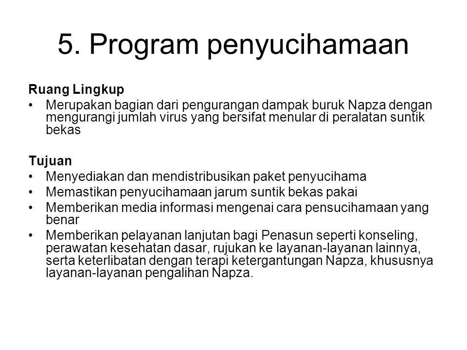 5. Program penyucihamaan