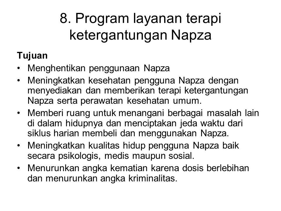 8. Program layanan terapi ketergantungan Napza
