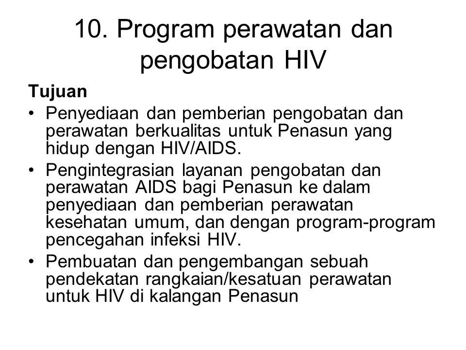 10. Program perawatan dan pengobatan HIV