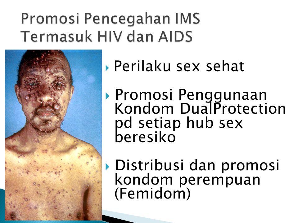 Promosi Pencegahan IMS Termasuk HIV dan AIDS