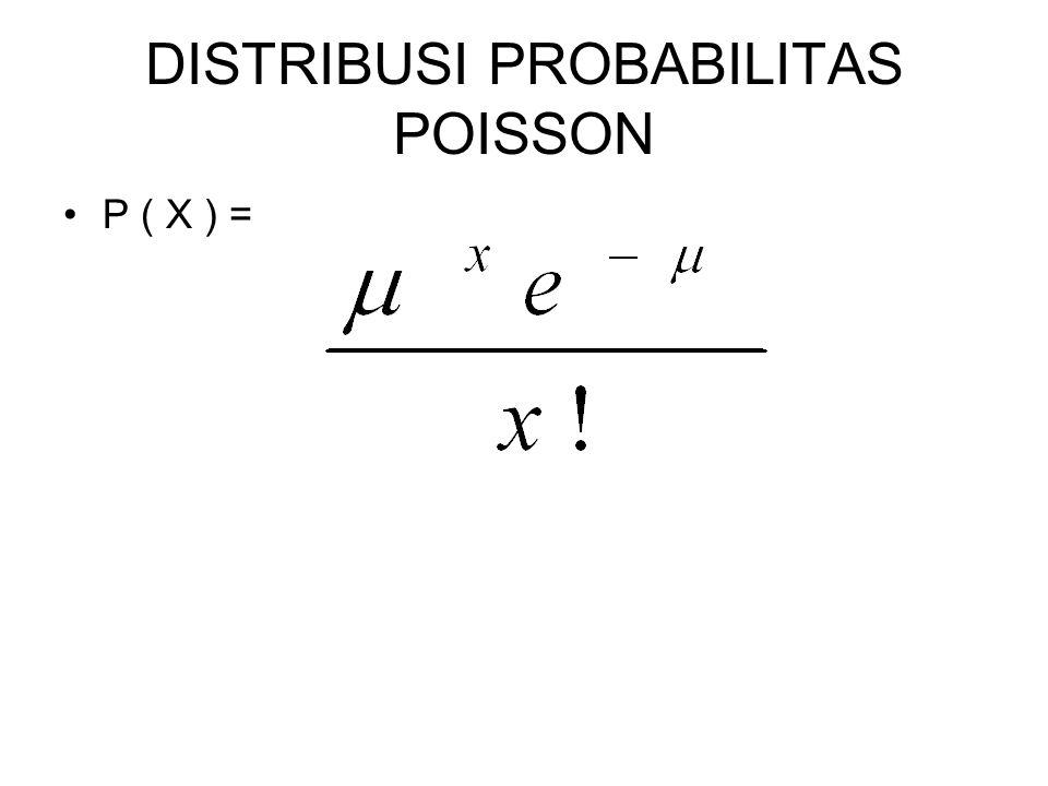 DISTRIBUSI PROBABILITAS POISSON