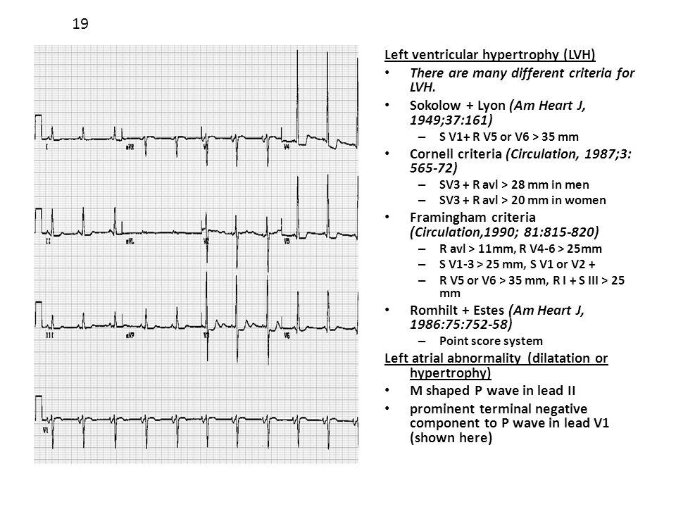 19 Left ventricular hypertrophy (LVH)