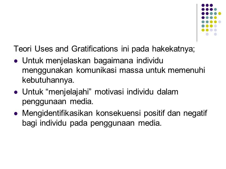 Teori Uses and Gratifications ini pada hakekatnya;
