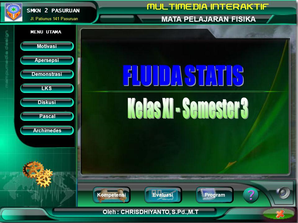 FLUIDA STATIS Kelas XI - Semester 3