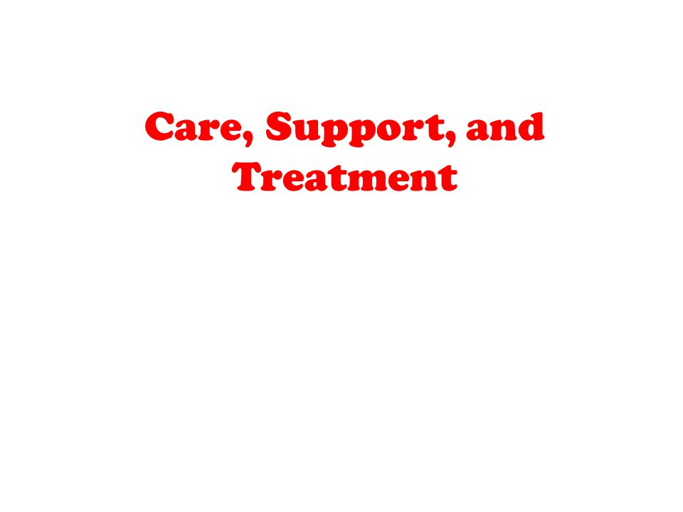 Care, Support, and Treatment