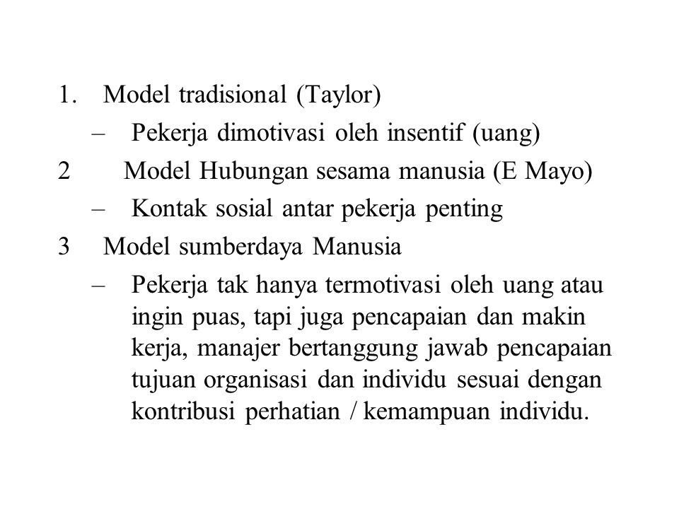 Model tradisional (Taylor)