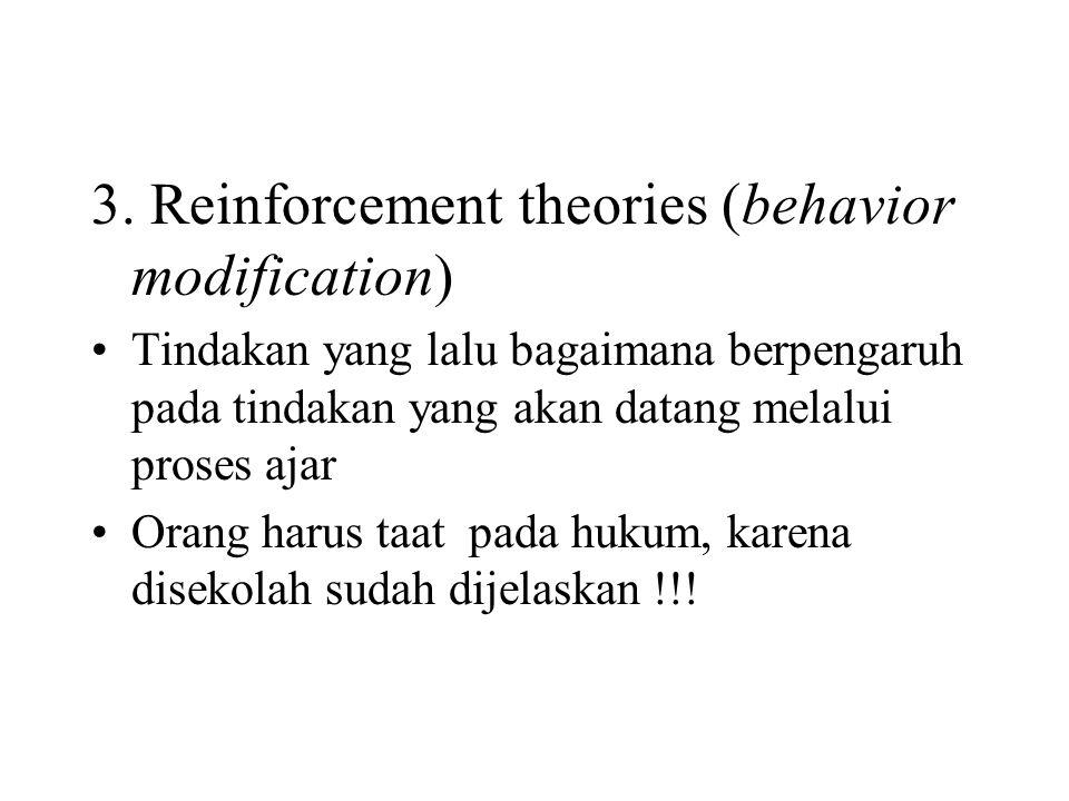 3. Reinforcement theories (behavior modification)