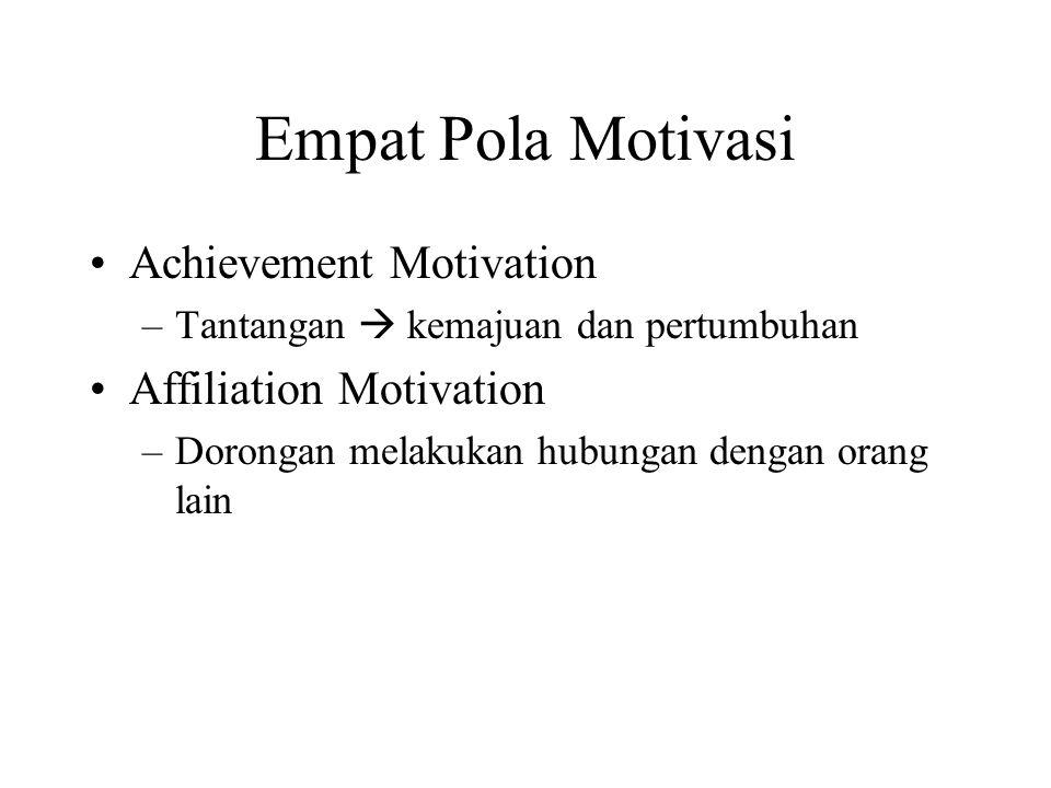 Empat Pola Motivasi Achievement Motivation Affiliation Motivation