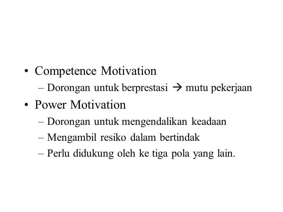 Competence Motivation Power Motivation