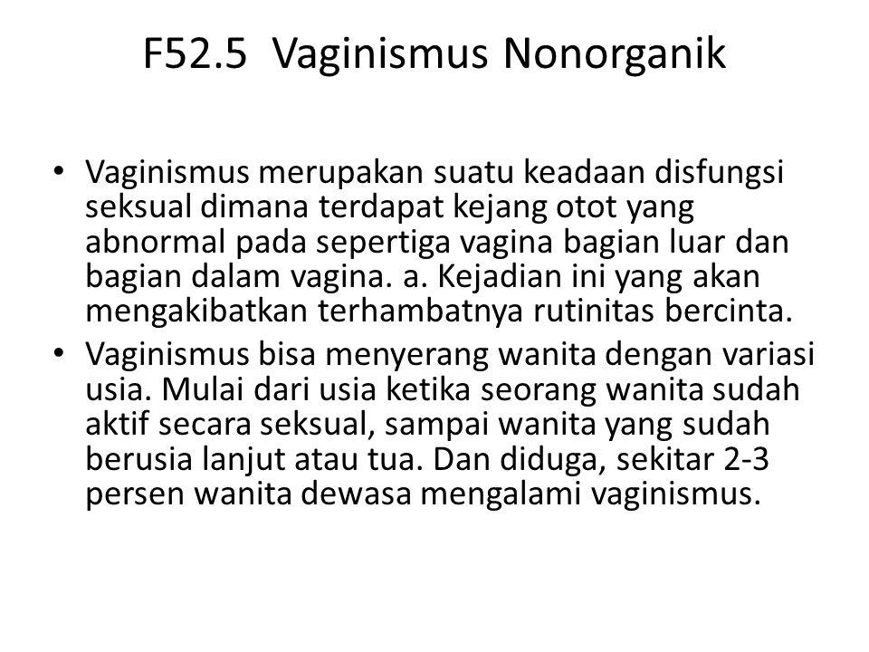 F52.5 Vaginismus Nonorganik