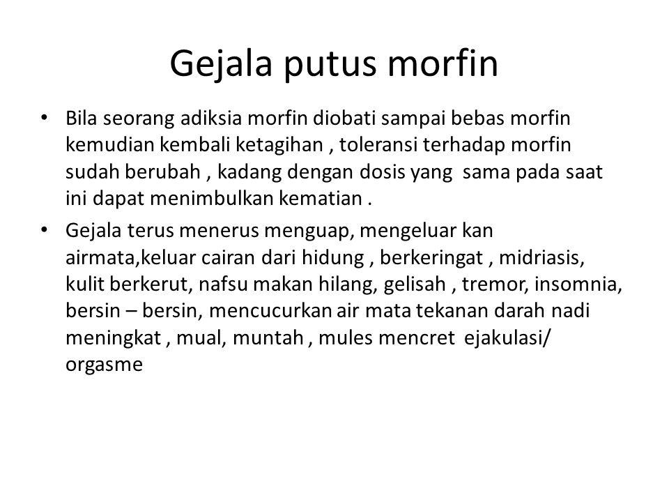 Gejala putus morfin