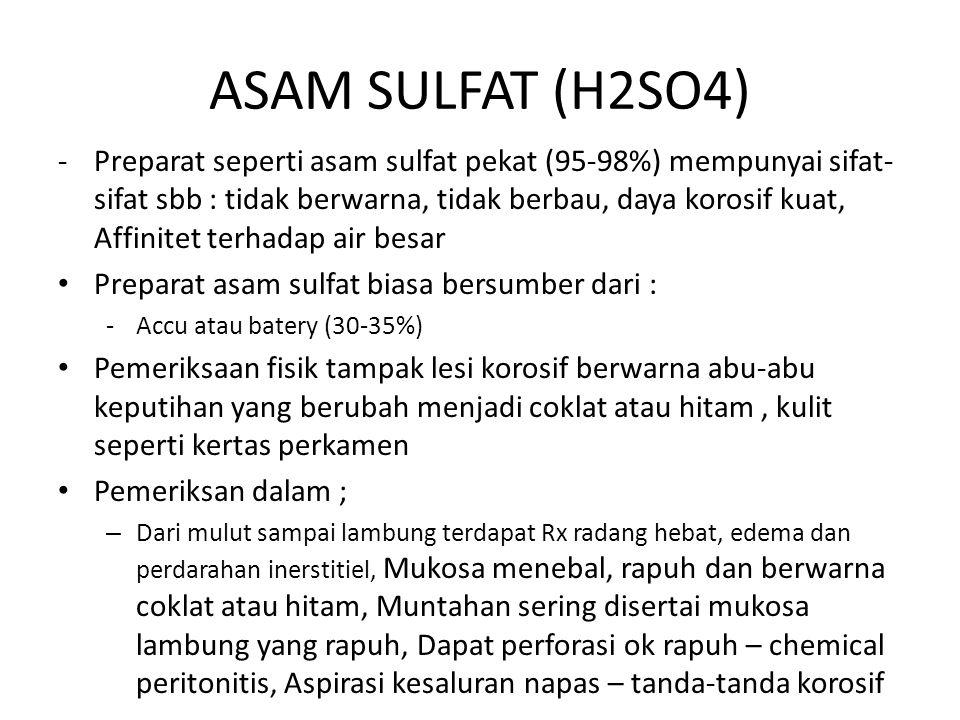 ASAM SULFAT (H2SO4)