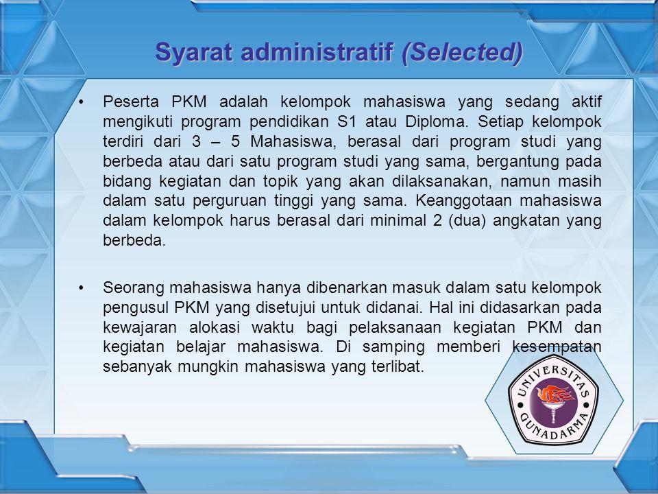 Syarat administratif (Selected)