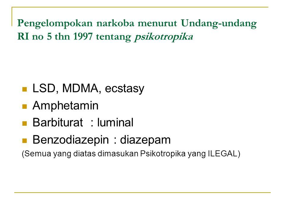 Benzodiazepin : diazepam