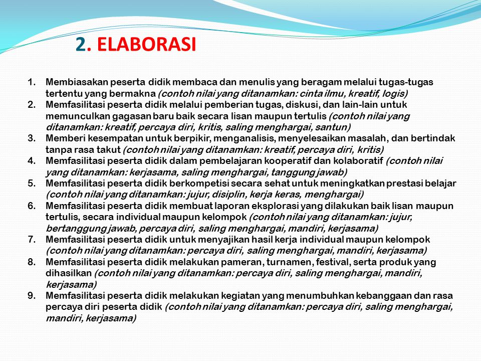 2. ELABORASI