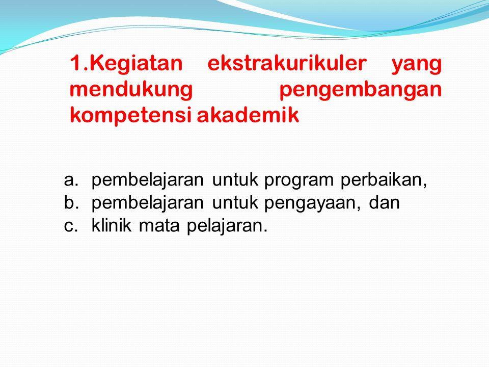 Kegiatan ekstrakurikuler yang mendukung pengembangan kompetensi akademik