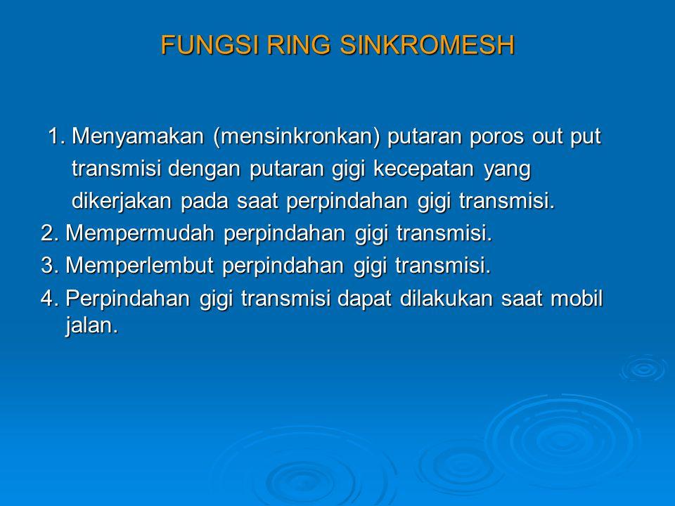 FUNGSI RING SINKROMESH