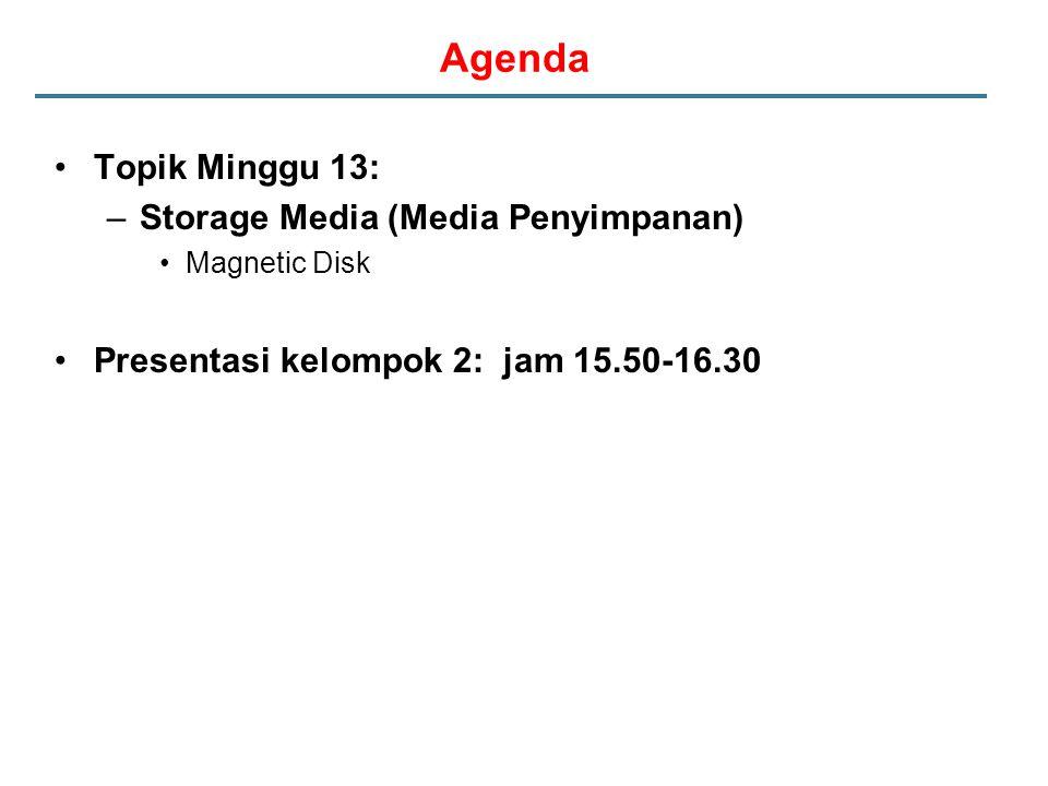 Agenda Topik Minggu 13: Storage Media (Media Penyimpanan)