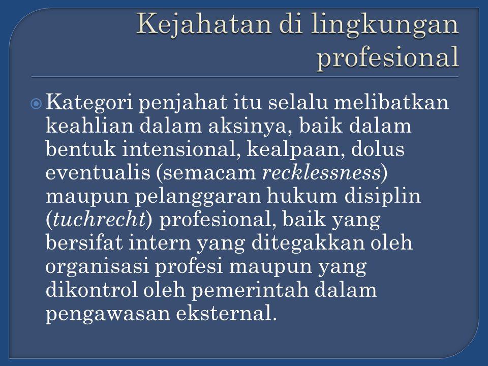 Kejahatan di lingkungan profesional