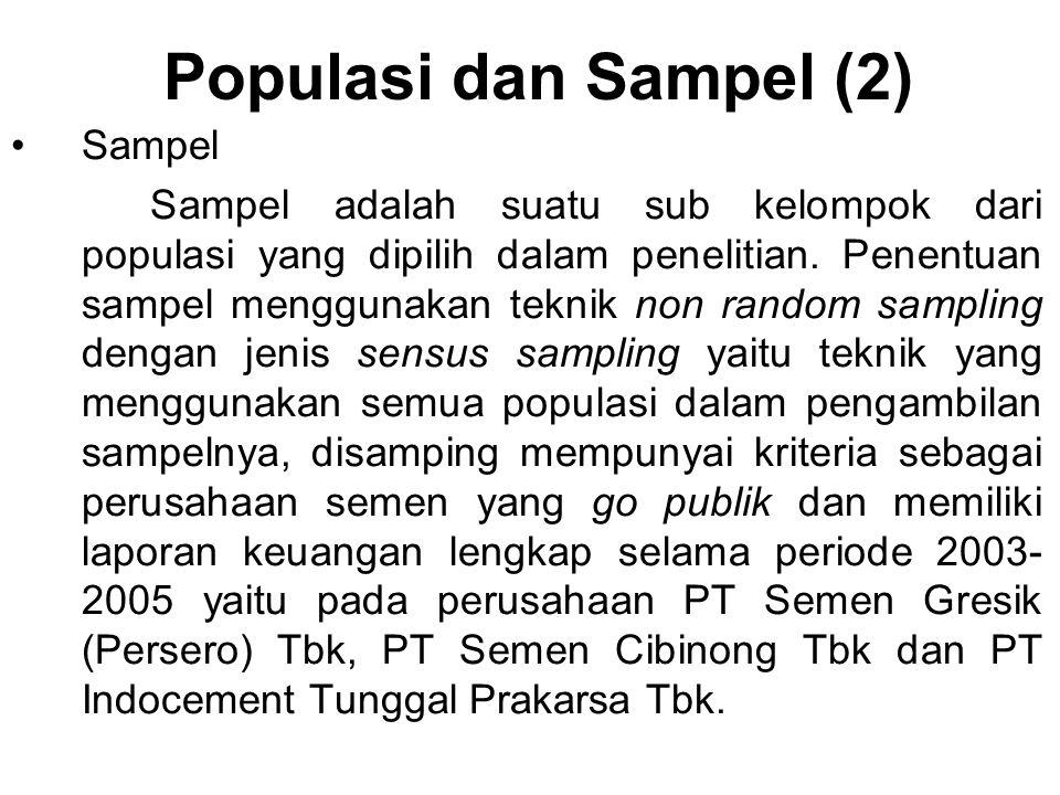 Populasi dan Sampel (2) Sampel