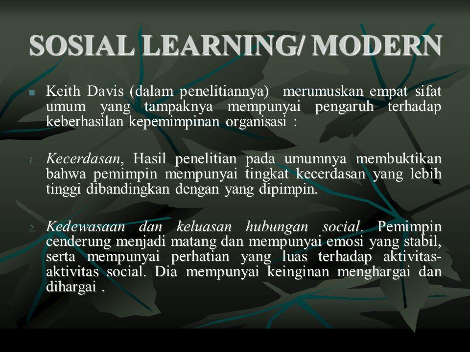 SOSIAL LEARNING/ MODERN