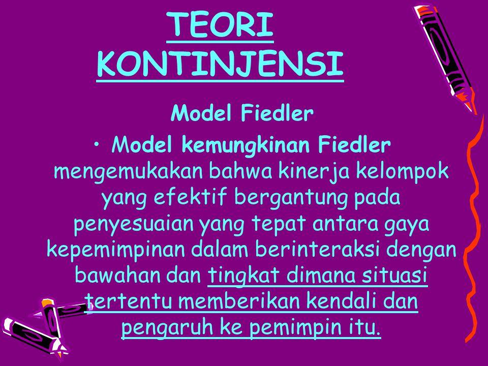TEORI KONTINJENSI Model Fiedler