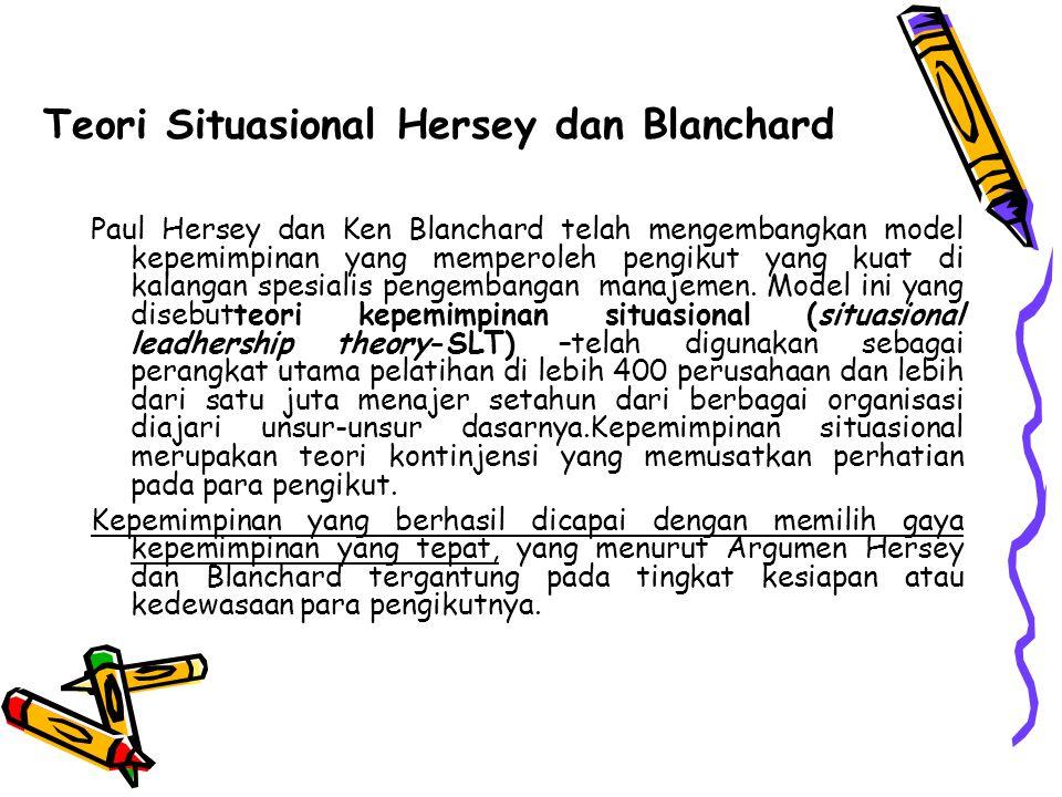 Teori Situasional Hersey dan Blanchard