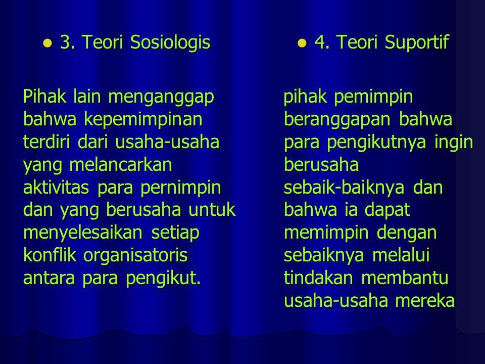 3. Teori Sosiologis
