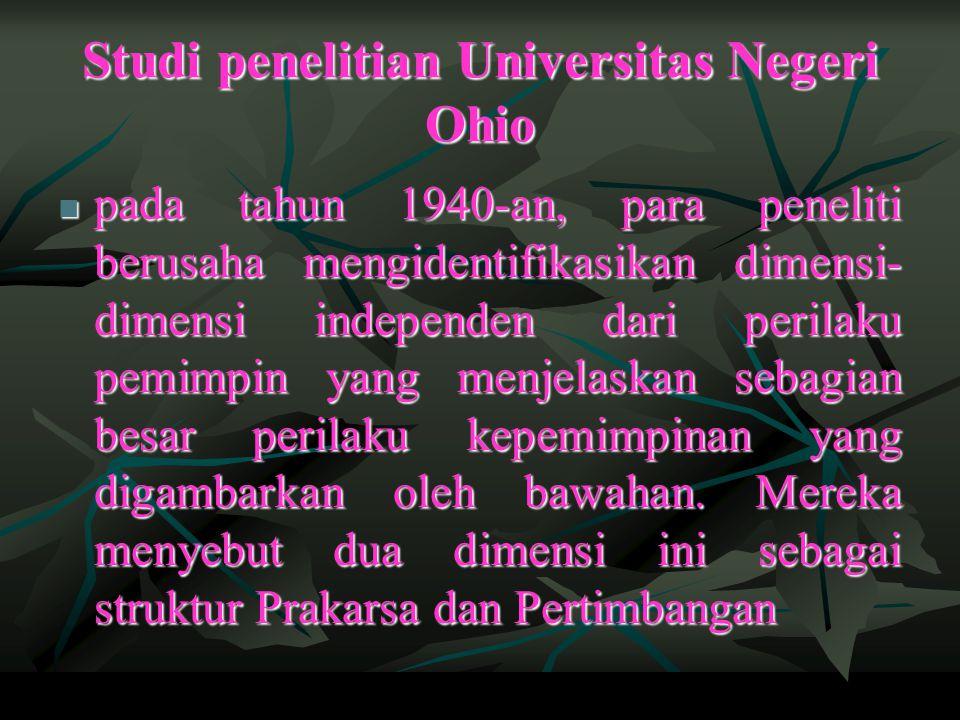 Studi penelitian Universitas Negeri Ohio
