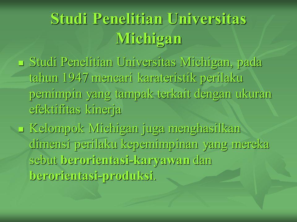 Studi Penelitian Universitas Michigan