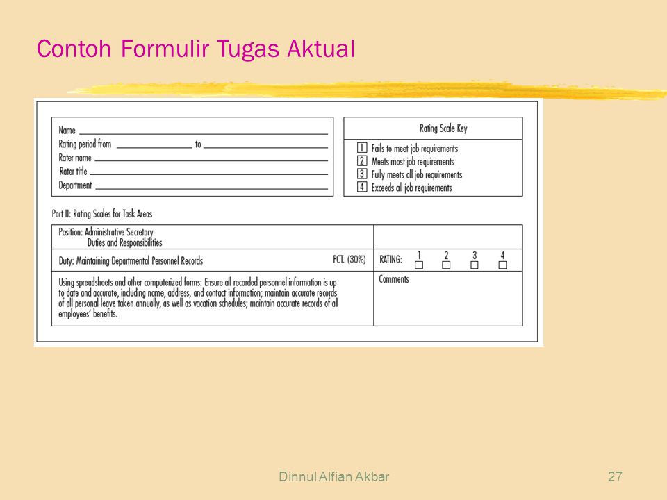 Contoh Formulir Tugas Aktual