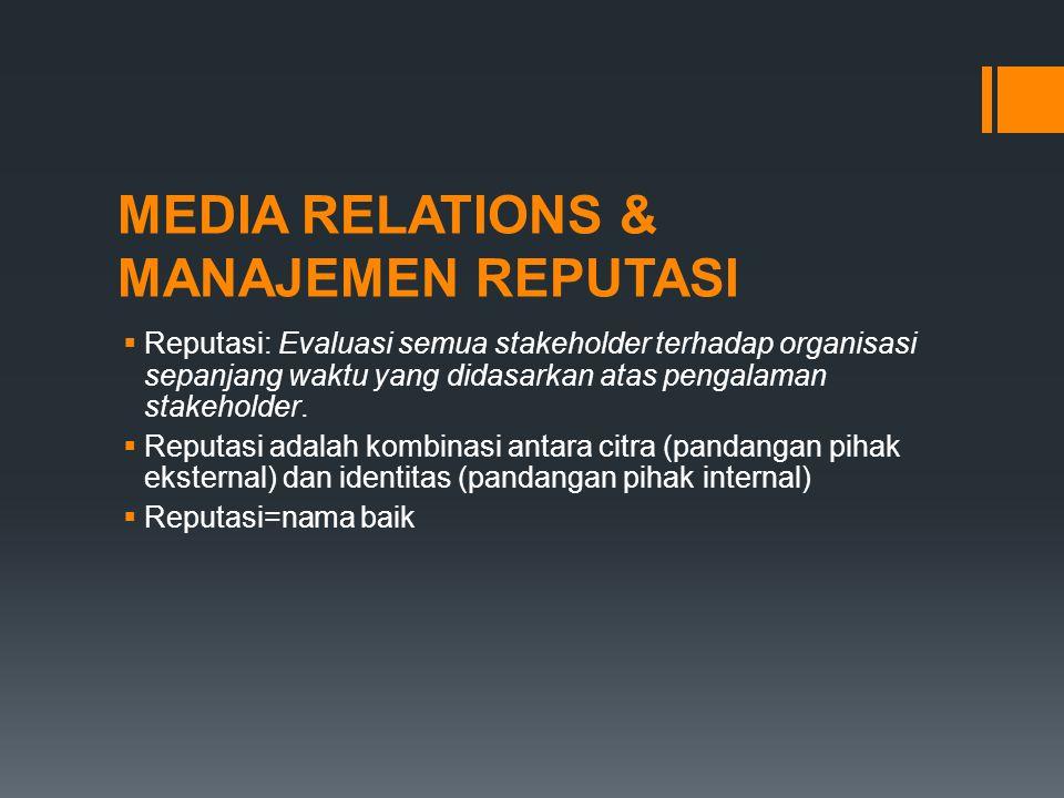 MEDIA RELATIONS & MANAJEMEN REPUTASI