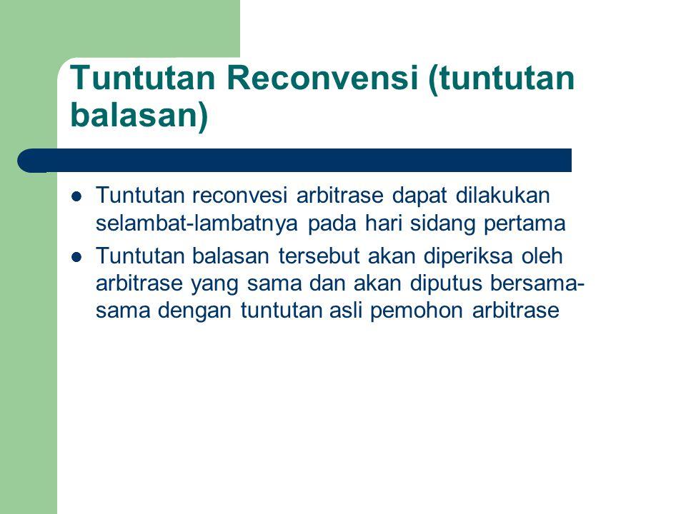 Tuntutan Reconvensi (tuntutan balasan)