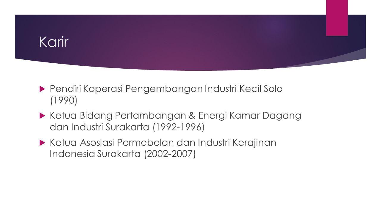 Karir Pendiri Koperasi Pengembangan Industri Kecil Solo (1990)