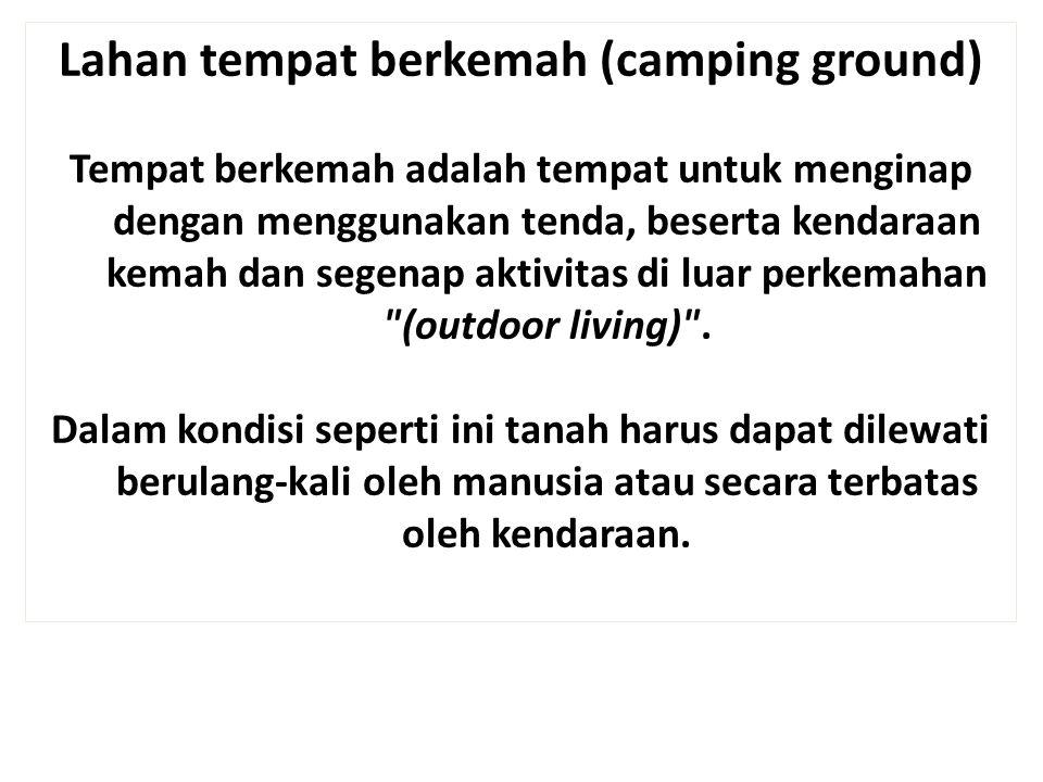 Lahan tempat berkemah (camping ground)