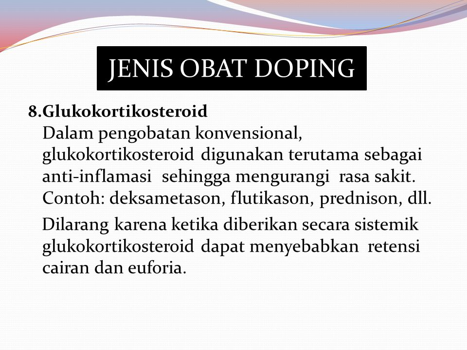JENIS OBAT DOPING