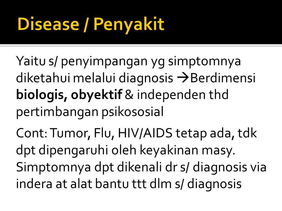 Disease / Penyakit