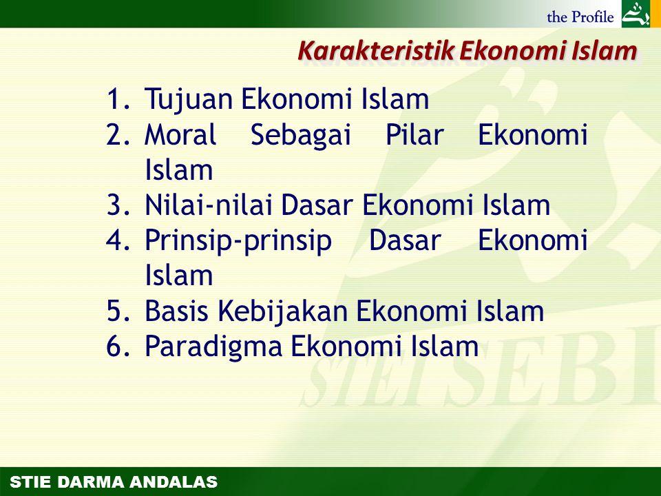 Karakteristik Ekonomi Islam