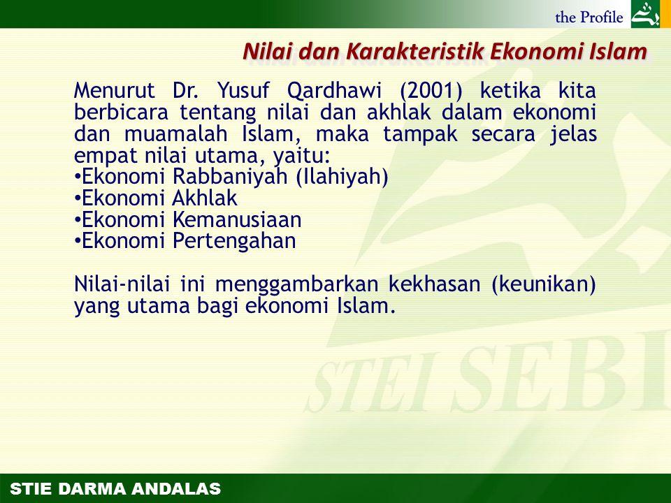 Nilai dan Karakteristik Ekonomi Islam