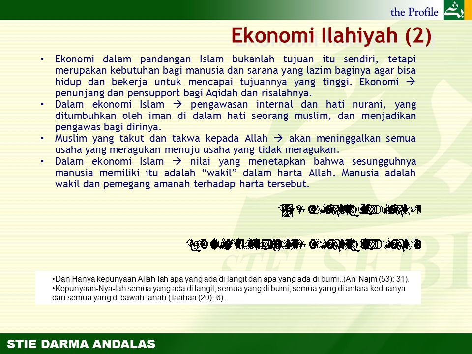 Ekonomi Ilahiyah (2)