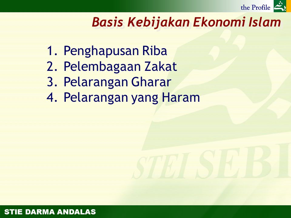 Basis Kebijakan Ekonomi Islam