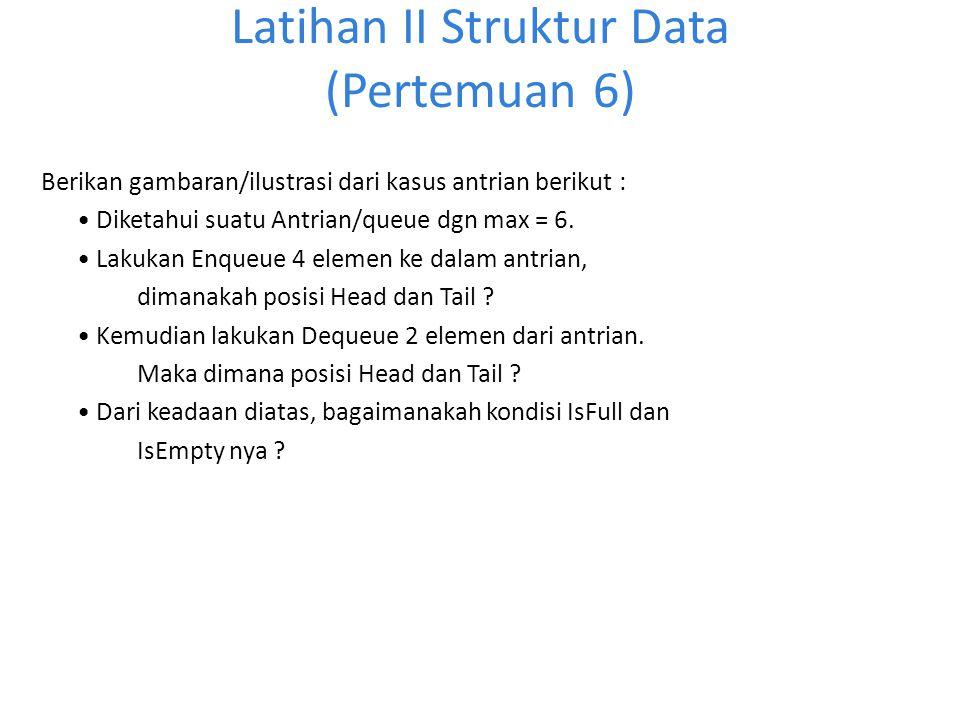 Latihan II Struktur Data (Pertemuan 6)