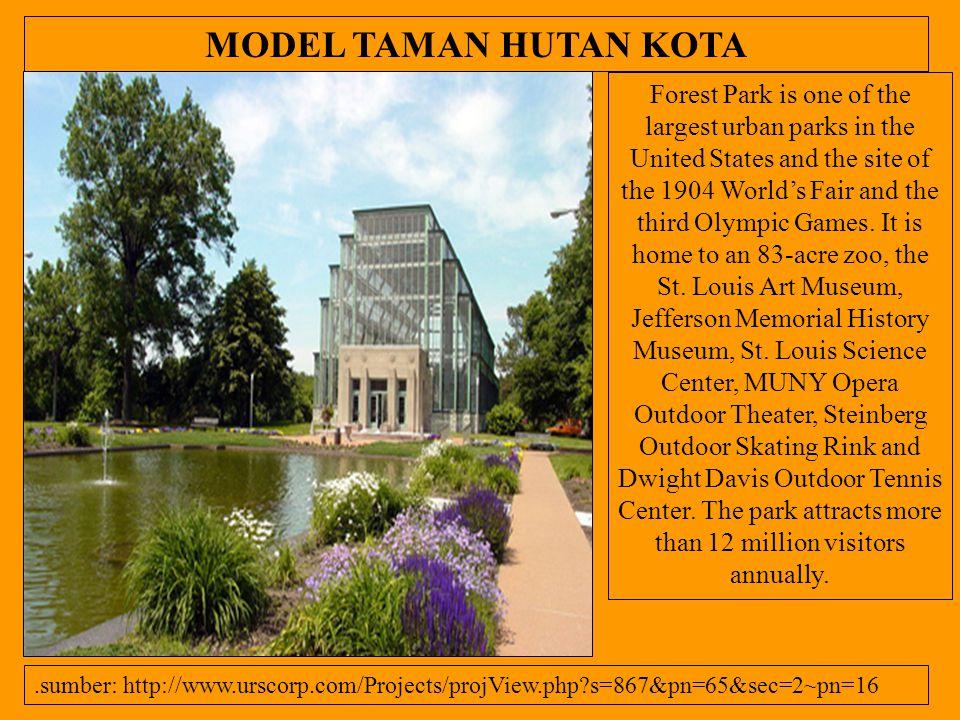 MODEL TAMAN HUTAN KOTA