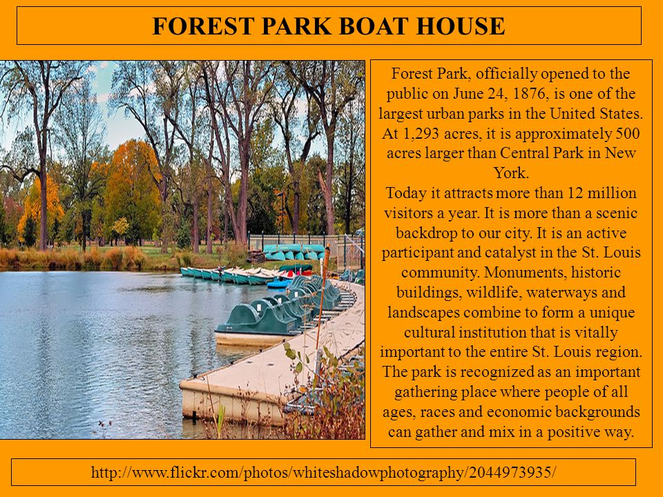 FOREST PARK BOAT HOUSE