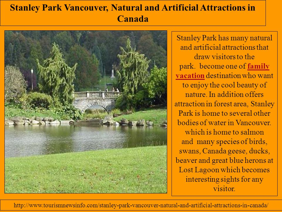 Stanley Park Vancouver, Natural and Artificial Attractions in Canada