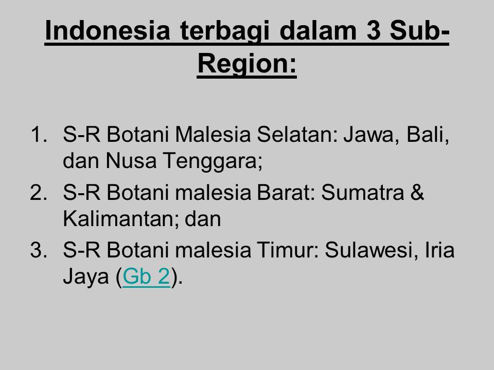 Indonesia terbagi dalam 3 Sub-Region: