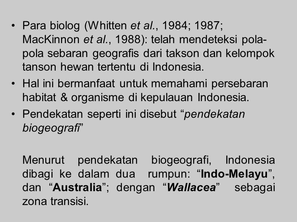 Para biolog (Whitten et al. , 1984; 1987; MacKinnon et al
